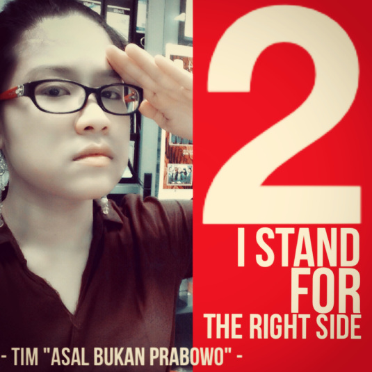 I STAND FOR THE RIGHT SIDE, BECAUSE THE OTHER IS JUST WRONG FROM ANY ASPECTS